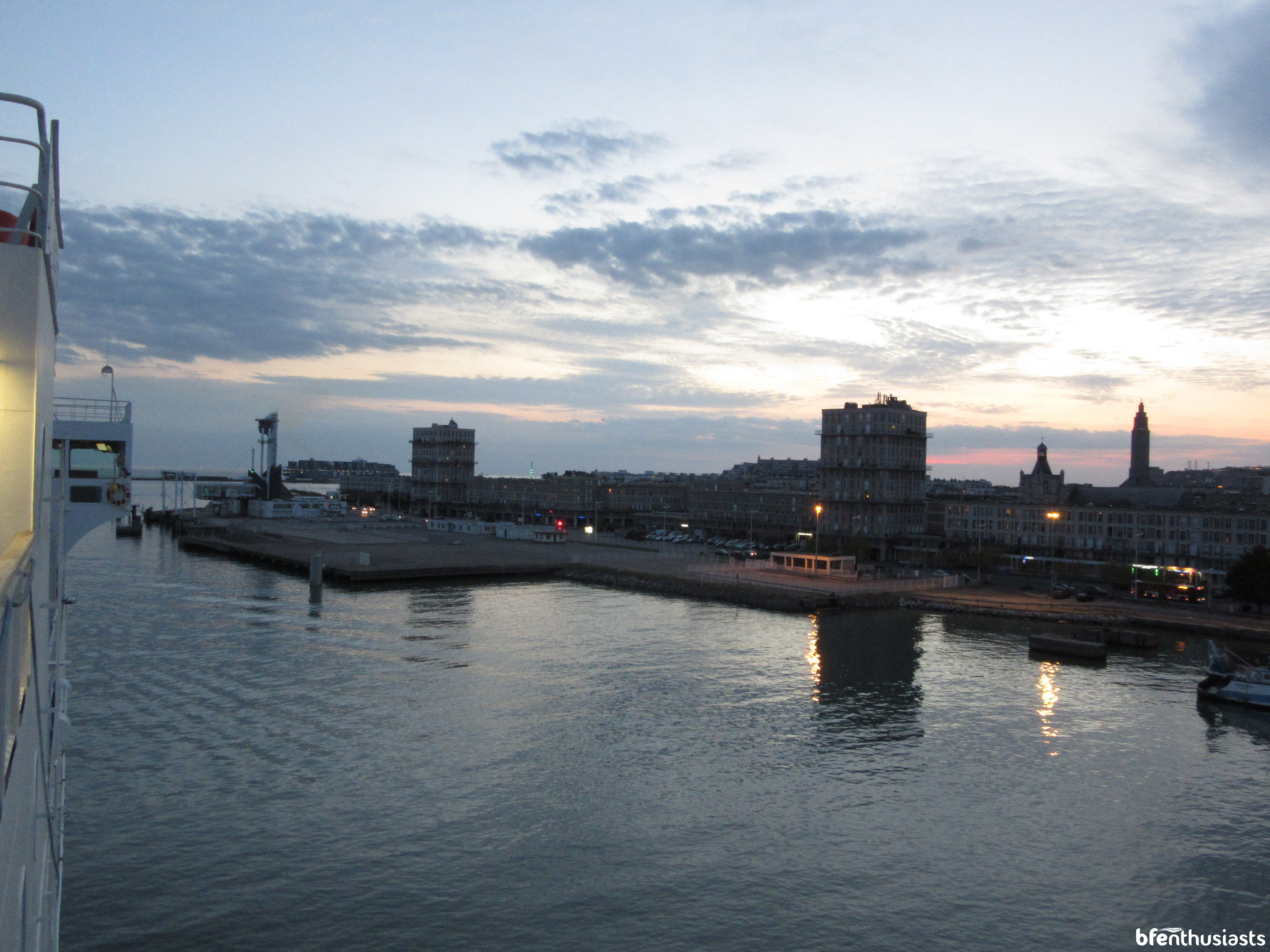 Le Havre at sunset
