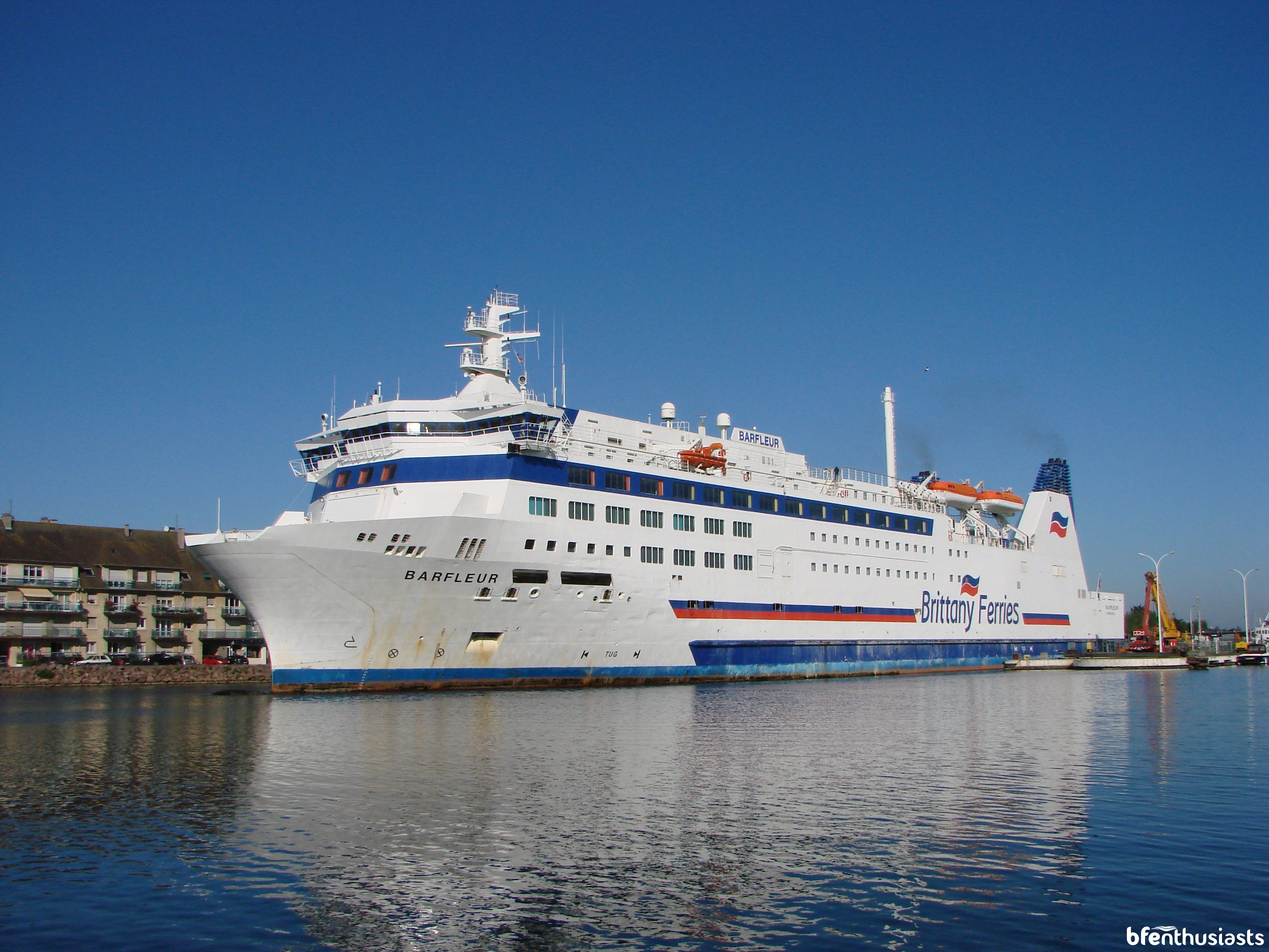 Barfleur enters the Caen Canal