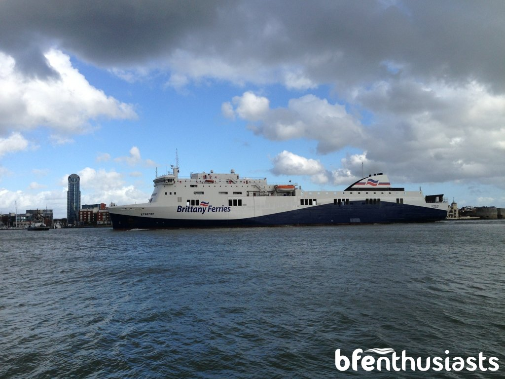 Maiden arrival Portsmouth Port for berthing trials