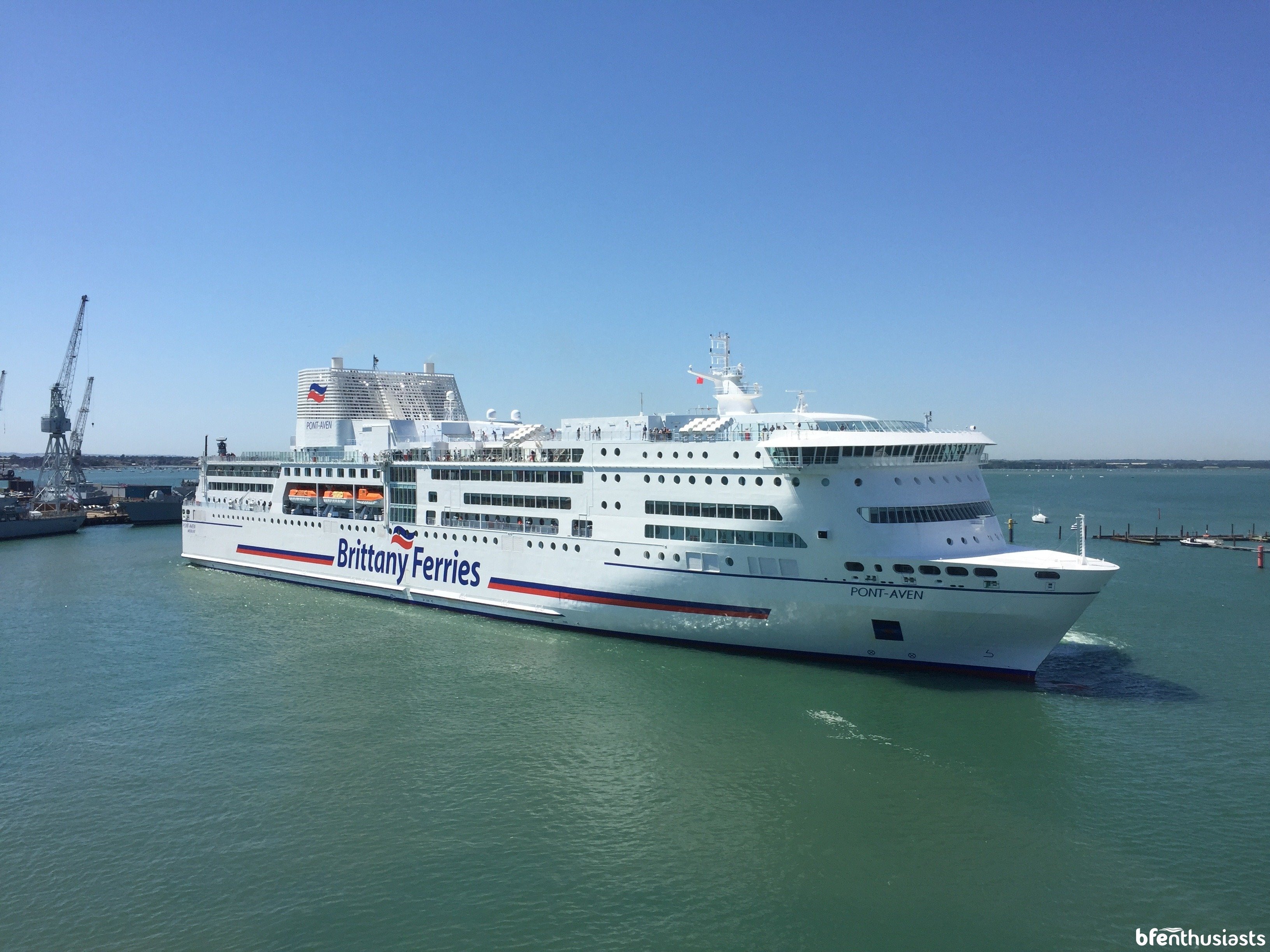 Pont-Aven arriving in Portsmouth - June '17