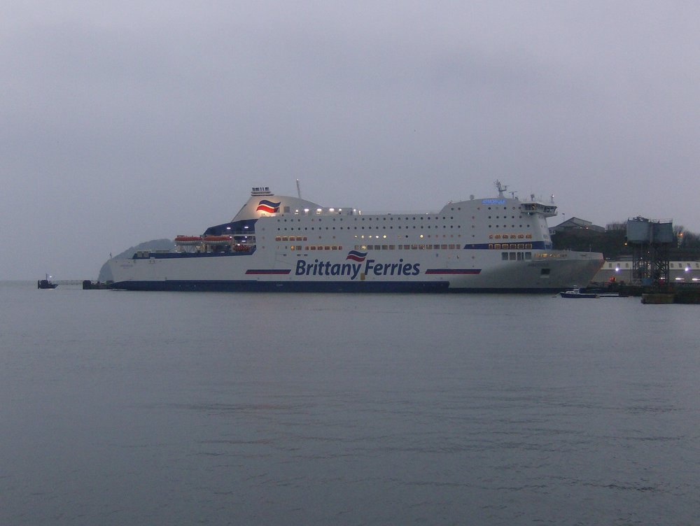 Brittany Ferries Armorique - First time in Plymouth (1).JPG