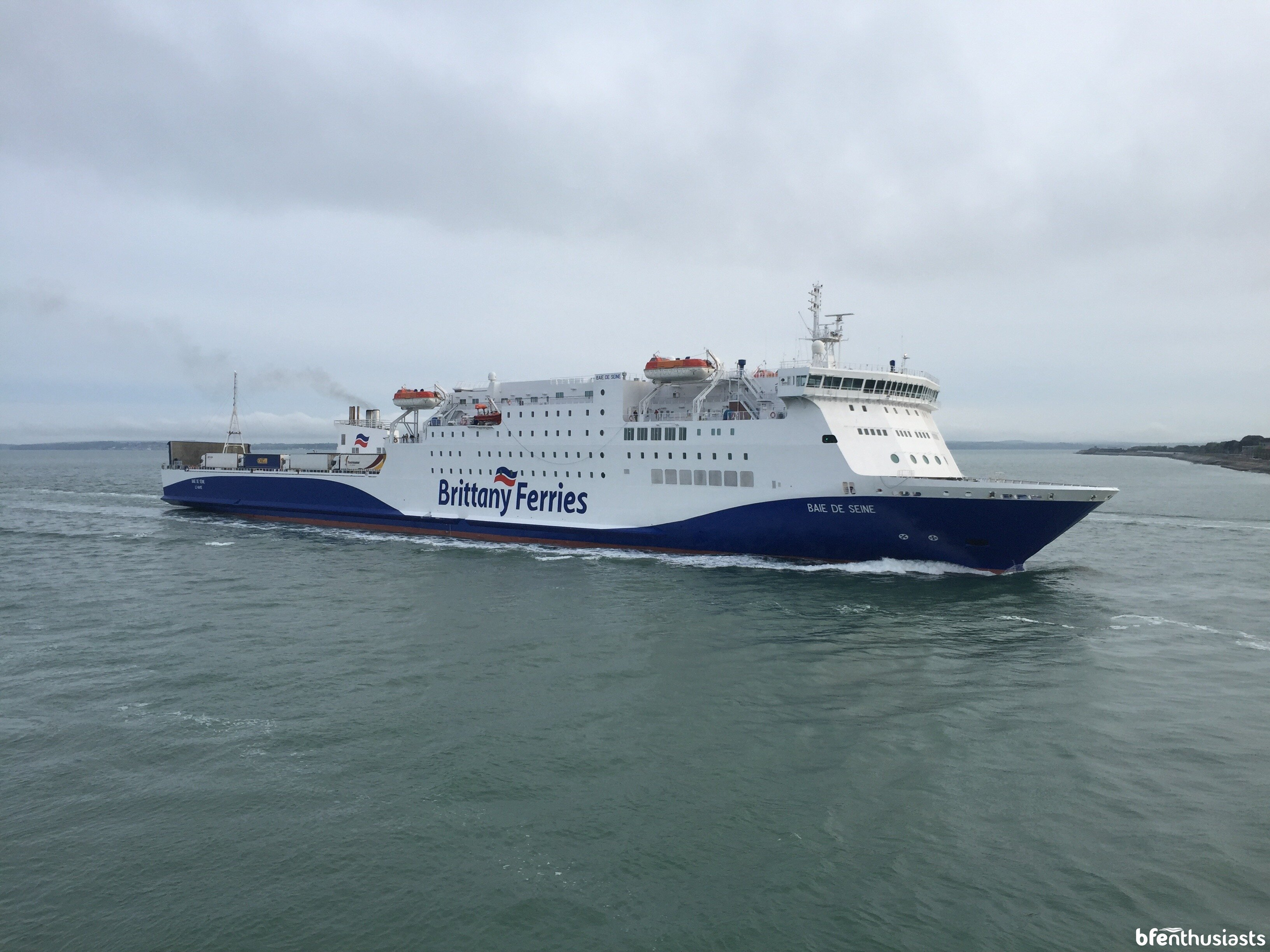 Arrival into Portsmouth from Bilbao.