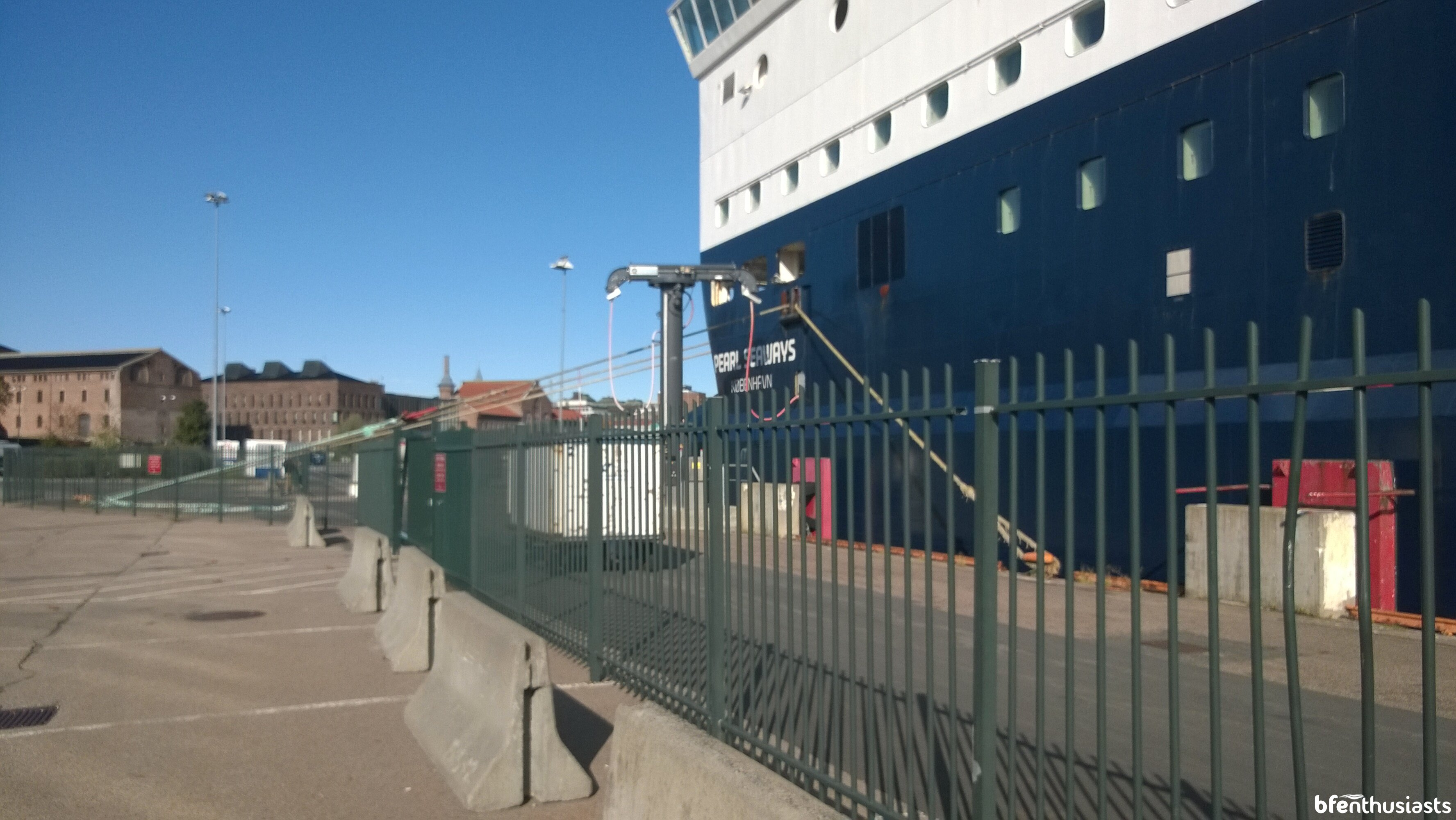 Pearl Seaways Cold Ironing shore power in Oslo