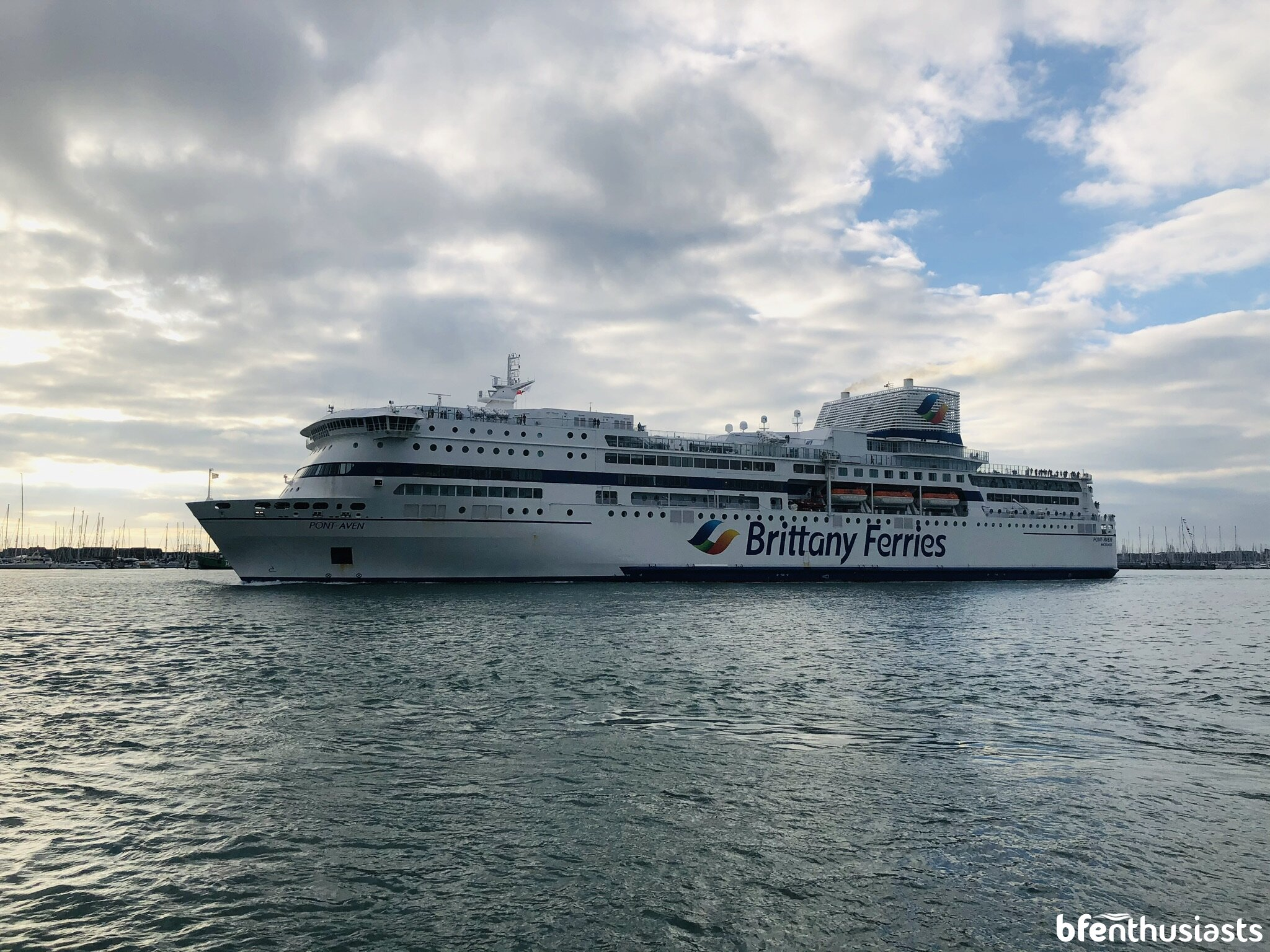 Pont-Aven departing Portsmouth - 08/09/20
