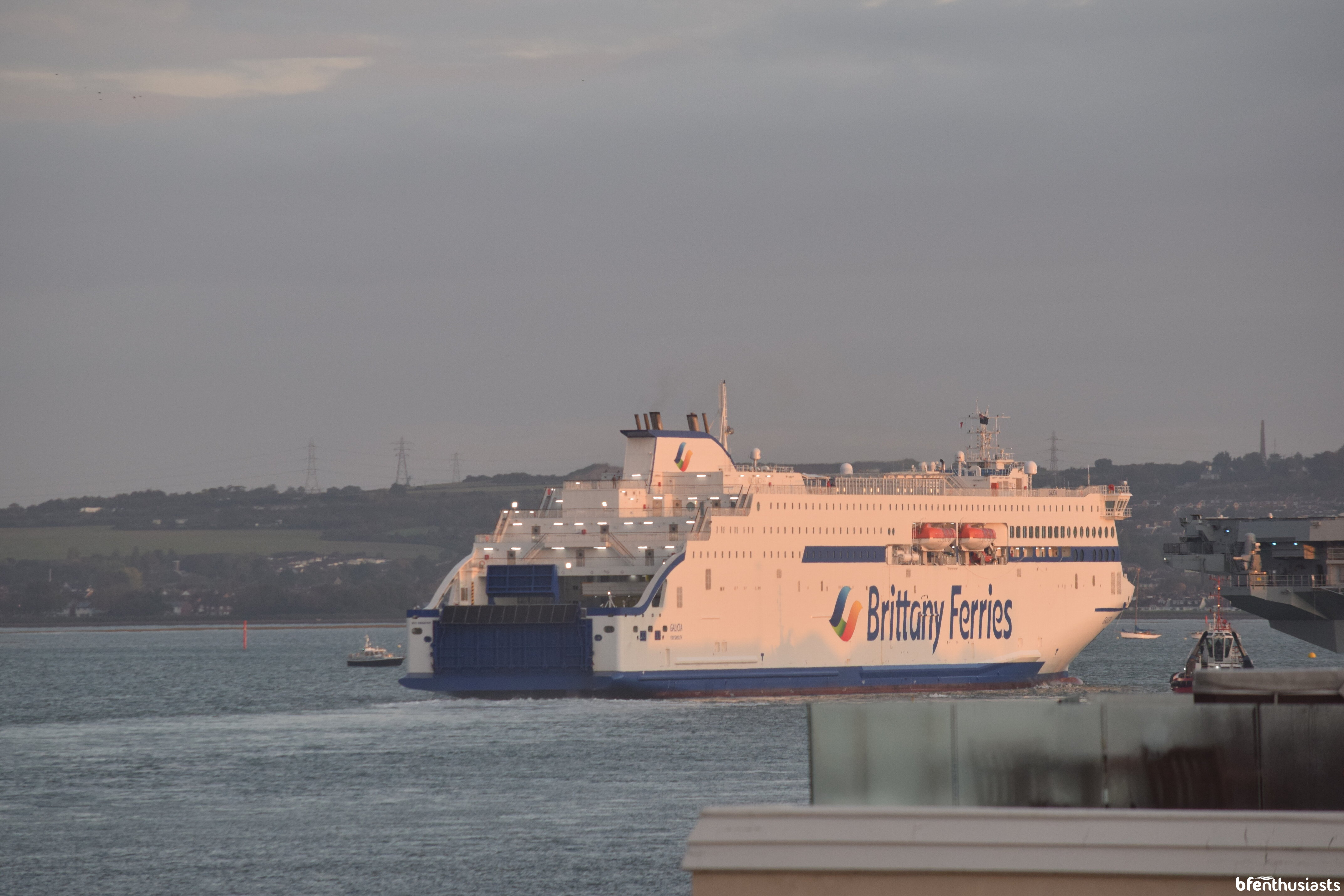 Galicia Maiden Portsmouth Arrival